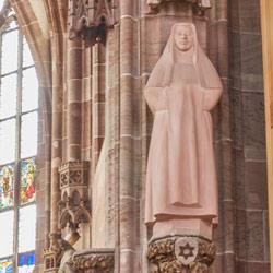Edith Stein Plastik - Frauenkirche Nürnberg