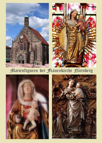 Postkarte-Marienfiguren